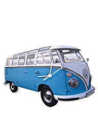 VW Camper T1 Wall Clock Classic Blue