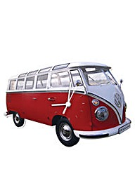 VW Camper T1 Wall Clock Classic Red