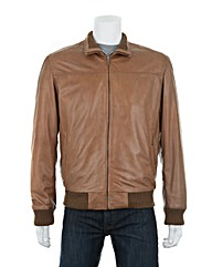 Woodland Leather Bomber Jacket