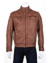 Woodland Leather Biker Jacket