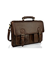 Woodland Leather Briefcase Satchel
