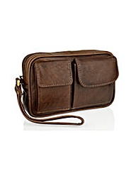 Woodland Leather Travel Pouch