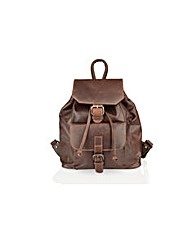 Woodland Leather Ruck Sack