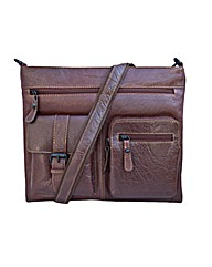 Woodland Leather Cross Body Messenger