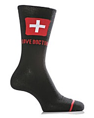 1 Pair Sockshop Dare To Wear Love Doctor