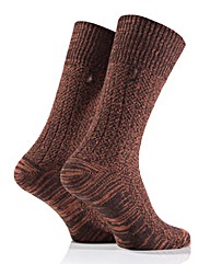 2 Pair Mens Jeep Textured Yarn Socks