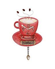 Allen Designs Cappuccino Cup Clock