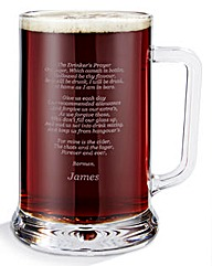 Personalised Drinkers Prayer Tankard
