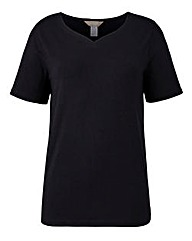 Cotton Rich V-Neck Tee
