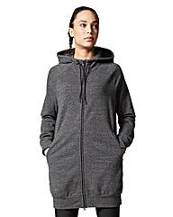 Adidas Longline Zip Front Hoodie