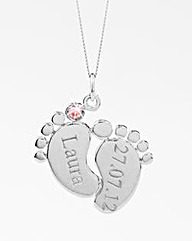 Sterling Silver Baby Feet Pendant