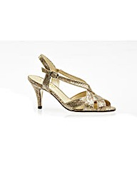 Rushall Metallic Snake Print Court Shoe
