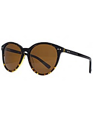 Storm Black Keyhole Round Sunglasses