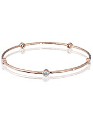 Simply Silver Rose Gold Bangle