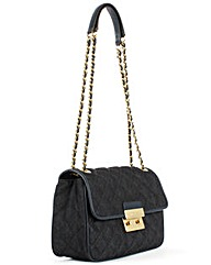 Michael Kors Quilted Dark Denim Bag