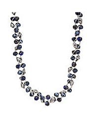 Mood Blue beaded twist necklace