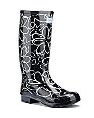 Splash Miss Floral EEE Wide Wellies