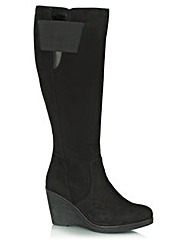 Daniel Rojas Suede Womens Knee Boot