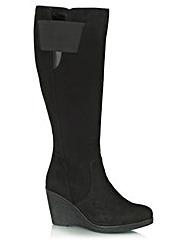 Daniel Rojas Suede Womens Knee Boot