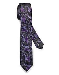 Kensington Skinny Purple Paisley Tie