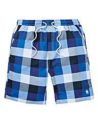 FRENCH CONNECTION CHECK SWIM SHORT