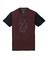LUKE SPORT CONTRAST LION T-SHIRT LONG