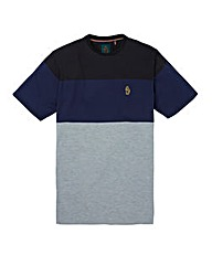 LUKE SPORT STRIPE PANEL T-SHIRT REG