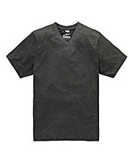 Jacamo Charcoal Titus V-Neck Tee Long