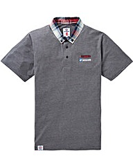 Lambretta Check Collar Polo Long