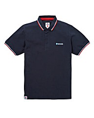Lambretta Tipped Collar Polo Long