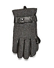 Black Label Tweed Gloves
