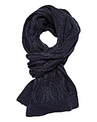 W&B Cable Knit Plain Scarf