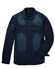 FIRETRAP INDIGO DENIM SHIRT LONG