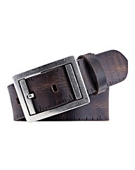 Souled Out Brown Distressed Leather Belt