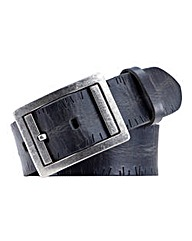 Souled Out Black Distressed Leather Belt