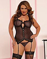 Laced With Love Bustier and Thong