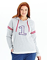 Pretty Secrets Hooded Slouch Top
