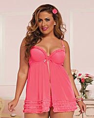 Fun and Frills Babydoll and Thong
