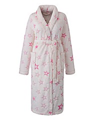 Pretty Secrets Burnout Fleece Gown L42