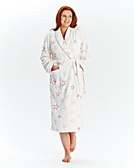 Pretty Secrets Burnout Fleece Gown L48