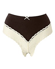 Naturally Close Cotton & Lace Briefs