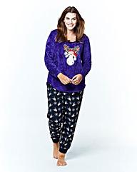 Pretty Secrets Reindeer Print Pyjamas