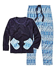 Pretty Secrets Fair Isle Print Pyjamas