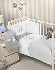 Moon & Stars 3-Piece Cot Bed Set