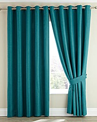 Imogen Basket Weave Eyelet Curtains