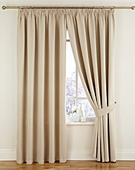 Woven Blackout Pencil Pleat Curtains