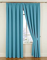 Woven Blackout Pencil Pleat Curtains