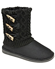 Knitted fold-over calf boots by Red Rock