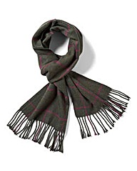 WILLIAMS & BROWN Large Check Scarf
