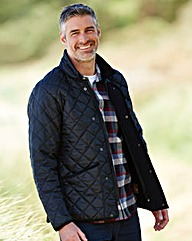 W&B Quilted Jacket With Fleece Lining